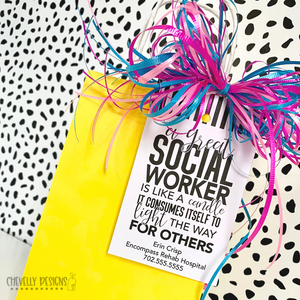 Personalized - Social Worker Appreciation Gift Tags ***Printable Digital File***