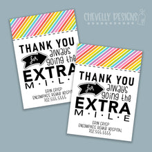Load image into Gallery viewer, Personalized - Extra Mile Gift Tags ***Printable Digital File***