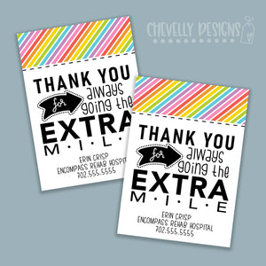 Personalized - Extra Mile Gift Tags ***Printable Digital File***