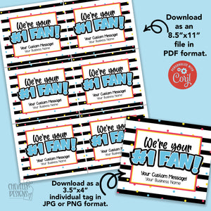 Personalized - #1 Fan Gift Tags ***Printable Digital File***