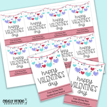 Load image into Gallery viewer, Personalized - Happy Valentine's Day Gift Tags ***Printable Digital File***