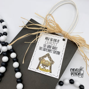 Printable Nativity Christmas Gift Tags >>>Instant Digital Download<<<