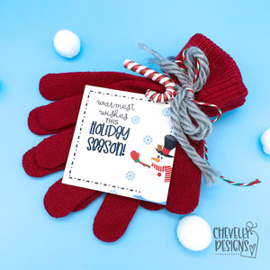 Printable - Warmest wishes this Holiday season - Snowman Gift tags  >>>Instant Digital Download<<<