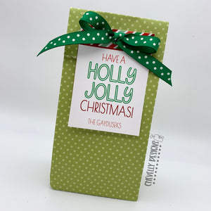 "Personalized - ""Have a Holly Jolly Christmas"" Gift Tags ***Printable Digital File***"