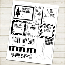 Load image into Gallery viewer, Printable Christmas Gift Tag Collection - Holiday Special! >>>Instant Digital Download<<<