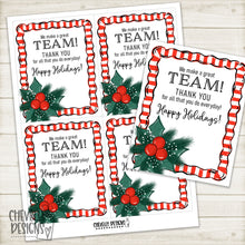 Load image into Gallery viewer, Printable Christmas Gift Tags - We make a Great Team >>>Instant Digital Download<<<