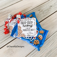 Load image into Gallery viewer, Personalized Chocolate Chip Cookie Gift Tags for Congratulation Gifts, Printable Digital File