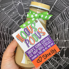 Load image into Gallery viewer, Printable - Hocus Pocus Coffee Gift Tags - Halloween Latte Tags - Instant Digital Download
