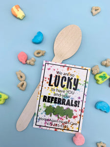 Personalized - We are so Lucky to Have You - Referral Gift Tags ***Printable Digital File***