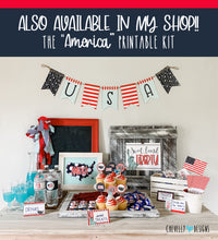 "Load image into Gallery viewer, Printable 8x10 ""America"" Sign 