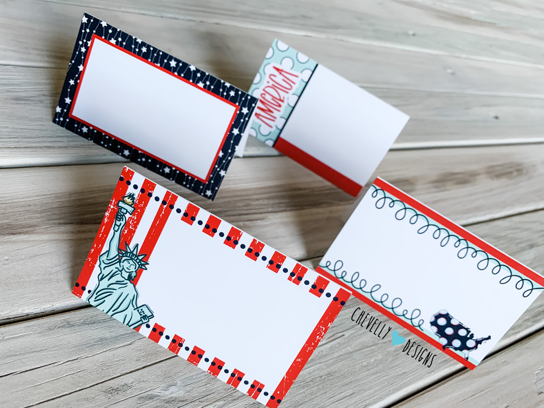 Printable 4th of July Food Tent Labels | Instant Download Digital File