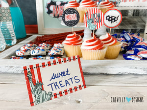 The America Printable Party Decoration Kit for the 4th of July | Instant Digital Download