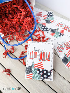 "Printable ""Happy 4th of July"" Gift Tags 