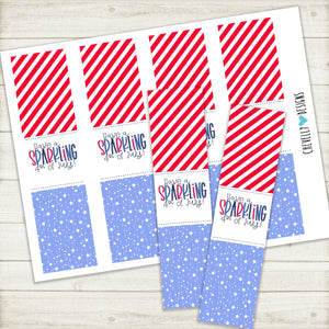 "Printable ""Have a Sparkling 4th of July"" Sparkler Holders 