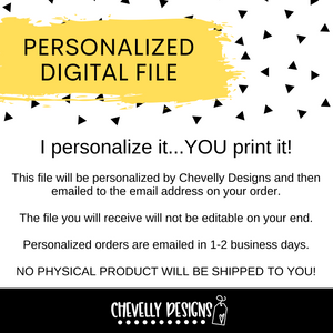 Personalized - A Little Something Out of the Blue - Gift Tags ***Printable Digital File***