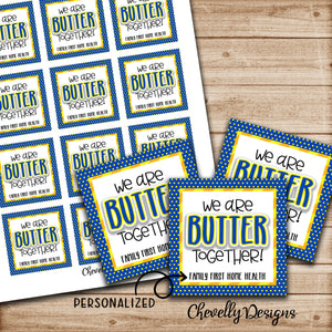 Personalized - Butter Together - Gift Tags for Butterfingers ***Printable Digital File***