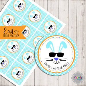 You're EGG-stra Cool Treat Bag Tags | Printable - Instant Digital File