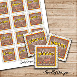 Personalized Candy Gift Tag | Reeses Pieces | teammate | Printable Digital File