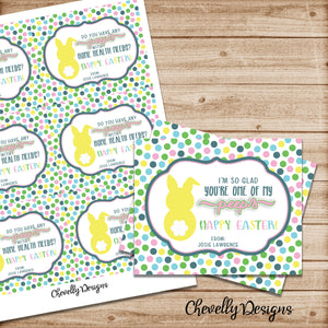 Personalized Peep Treat Bag Tags | I'm so glad you're one of my peeps | Easter Gift Tags | Printable - Digital File