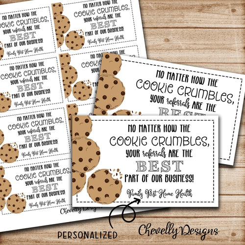 Personalized - Customer Referral Appreciation Cookie Gift Tags ***Printable Digital File***