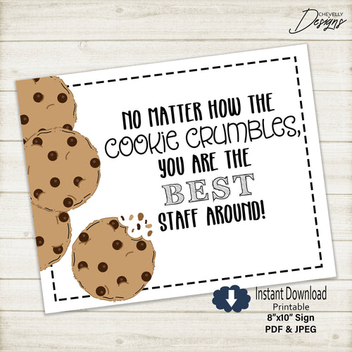 Cookie - Staff Appreciation 8x10 Breakroom Sign | Printable - Instant Digital Download