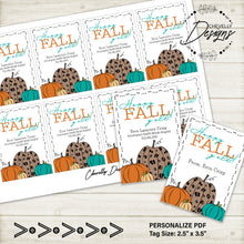Load image into Gallery viewer, Personalized Happy Fall Yall Pumpkin Gift Tags ***Printable Digital File***