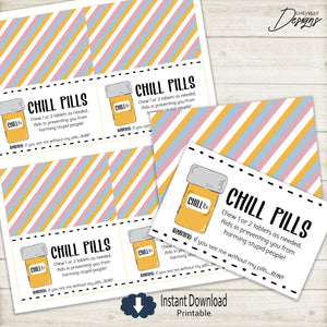 "Chill Pill 4"" Bag Toppers 