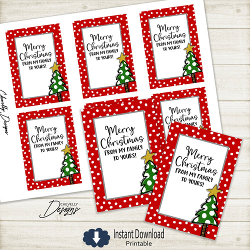 Printable Whimsical Christmas Tree Gift Tags >>>Instant Digital Download<<<