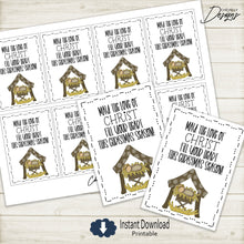 Load image into Gallery viewer, Printable Nativity Christmas Gift Tags >>>Instant Digital Download<<<