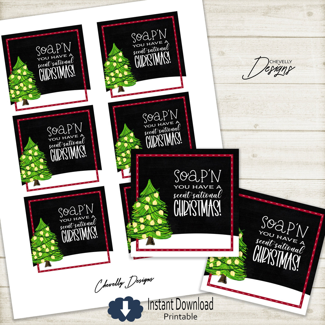 Printable Soap'n You Have a Scent-sational Christmas Gift Tags >>>Instant Digital Download<<<