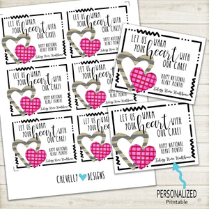 Personalized Heart Month Gift Tags for Business Marketing ***Printable Digital File***