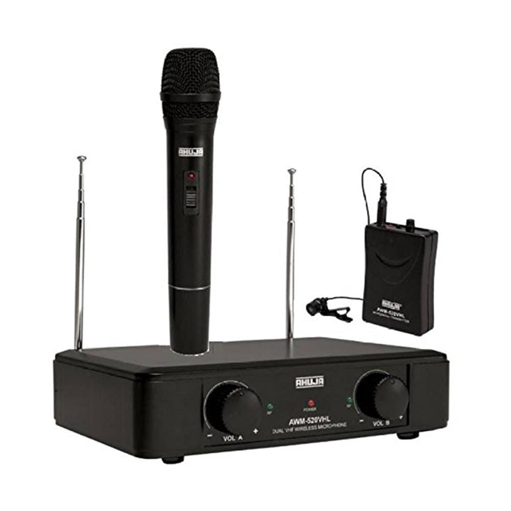 Ahuja AWM520V2 Microphone Wireless Dual Channel UHF
