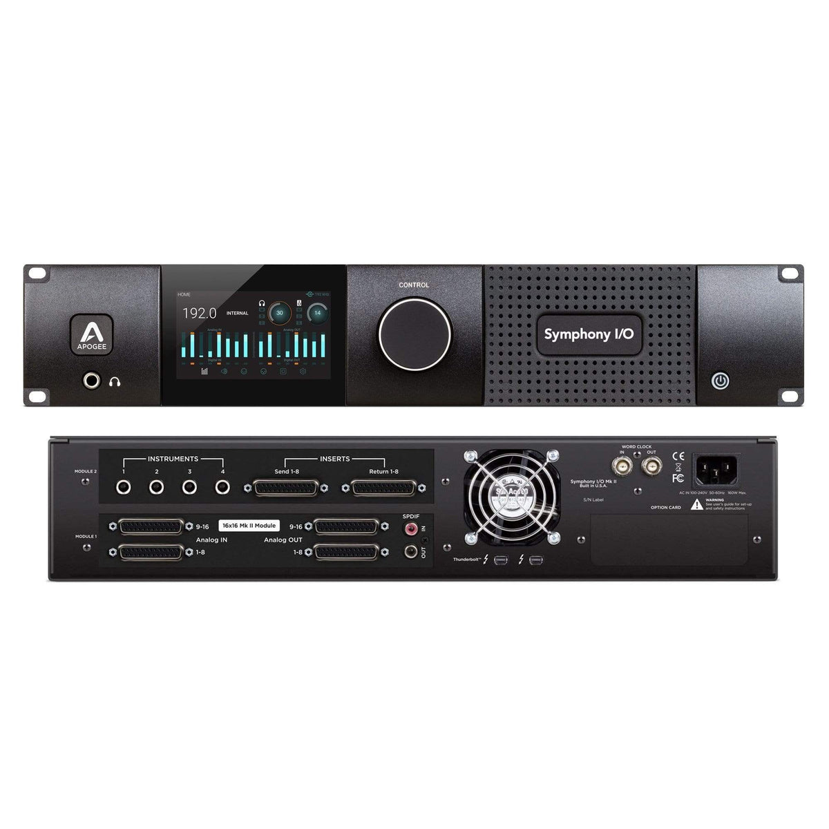 Apogee Electronics Audio Interface APOGEE Symphony I/O MKII Thunderbolt Chassis with 16 Analog In + 16 Analog Out+16 Analog In + 16 Analog Out