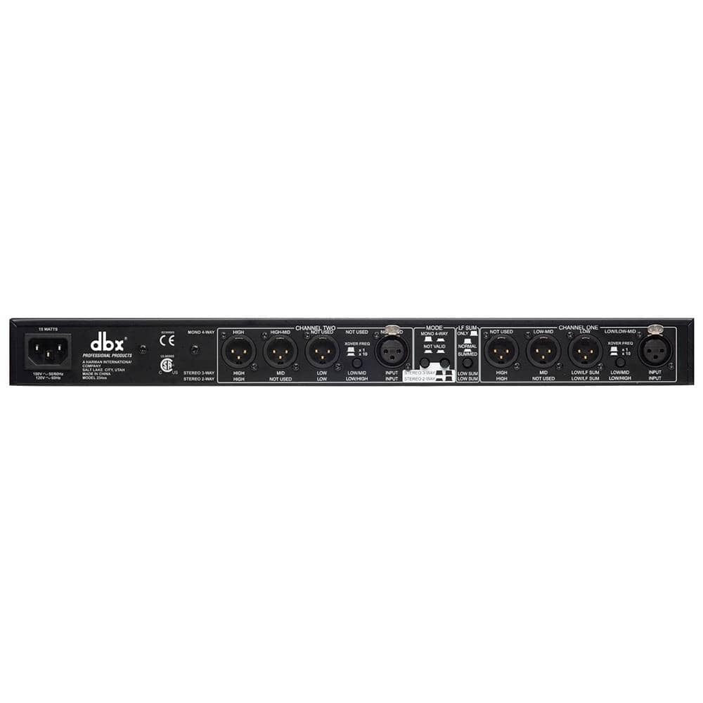 DBX 234s Stereo 2/3-Way/Mono 4-Way Crossover with XLR Connectors