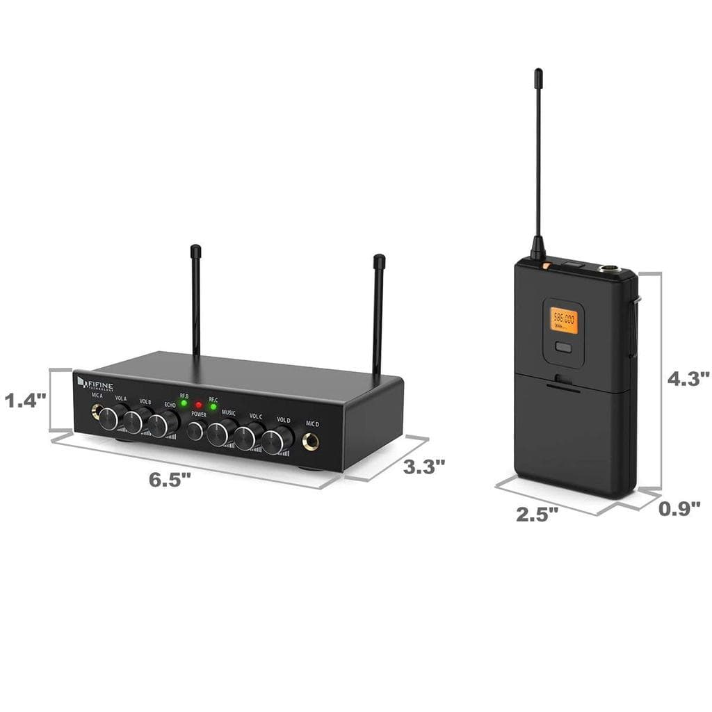 Fifine Wireless Microphone System Fifine K038 Dual Wireless System With Lavalier & Head-Worn Microphones