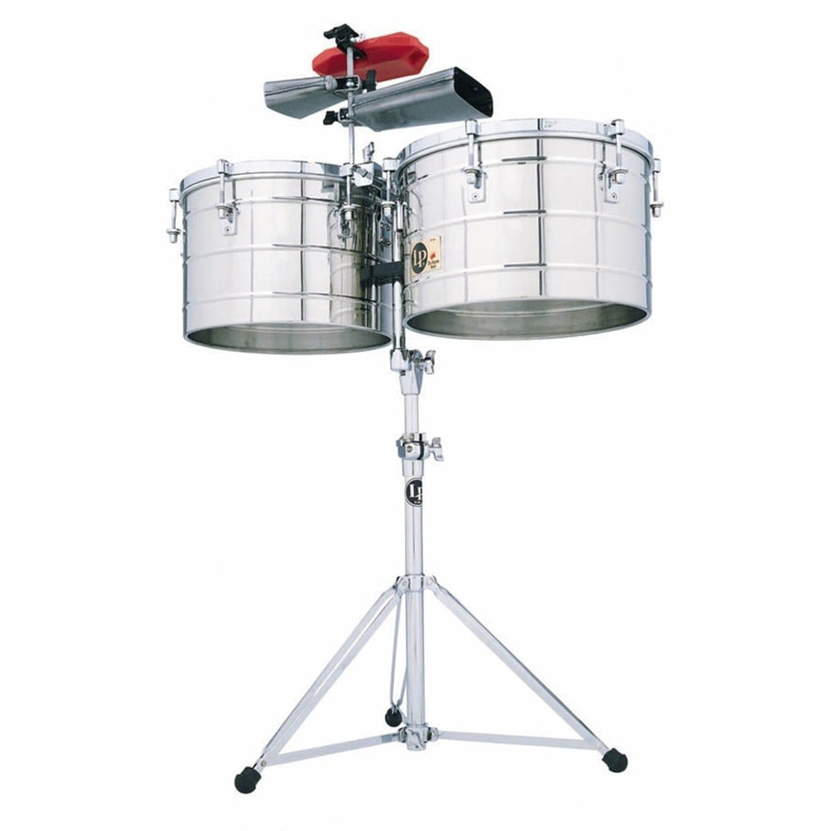 "LP Tito Puente 15 - 16"" Thunder Timbales Stainless Steel Shell With Stand"