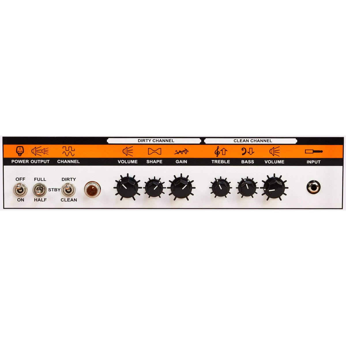 Orange TH100 100/70/50/35-watt Two-Channel Tube Head