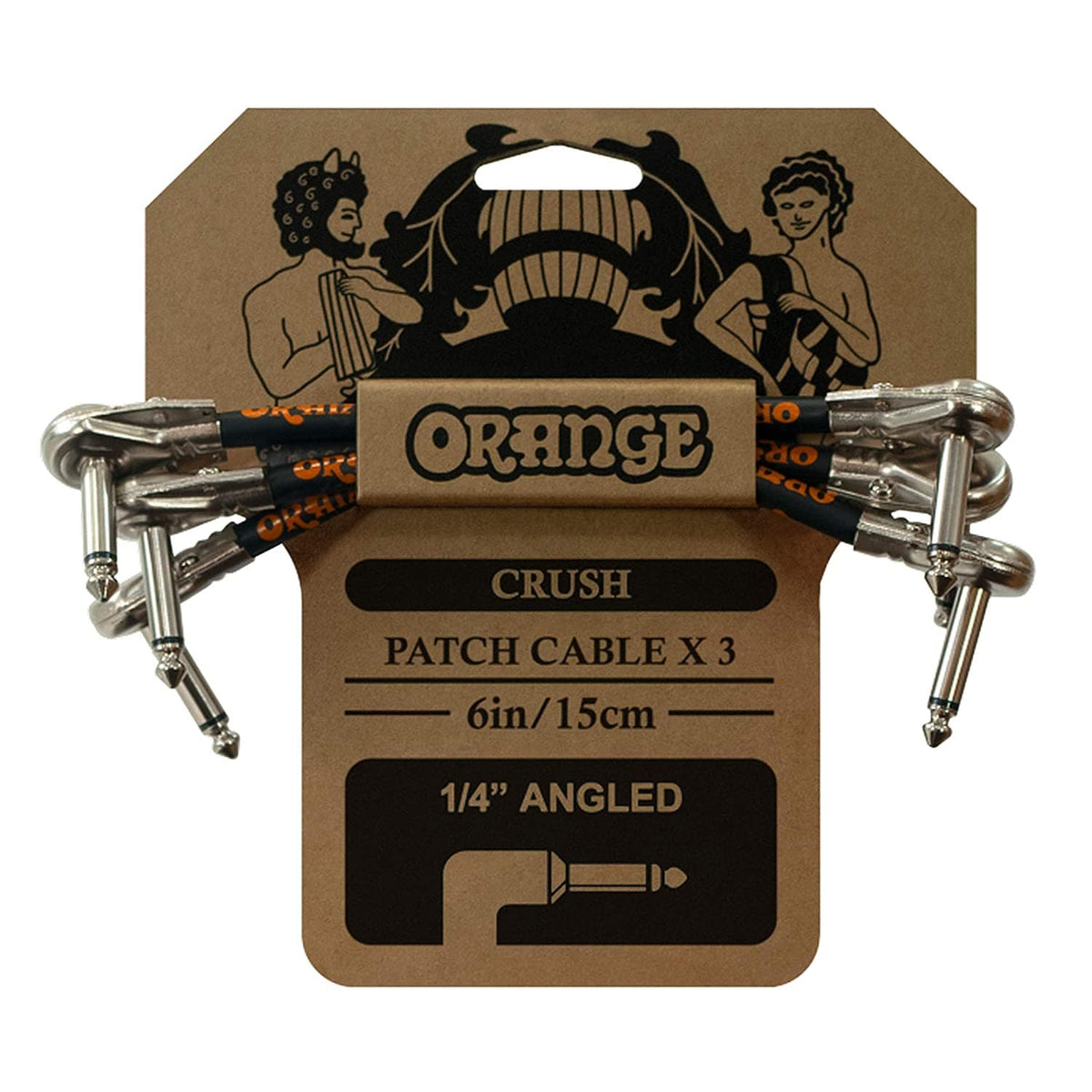 "Orange Crush 6"" Patch Cable 3-Pack"