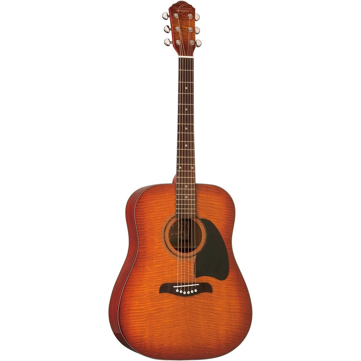 Oscar Schmidt OG2FYS Acoustic Guitar - Flame Yellow Sunburst