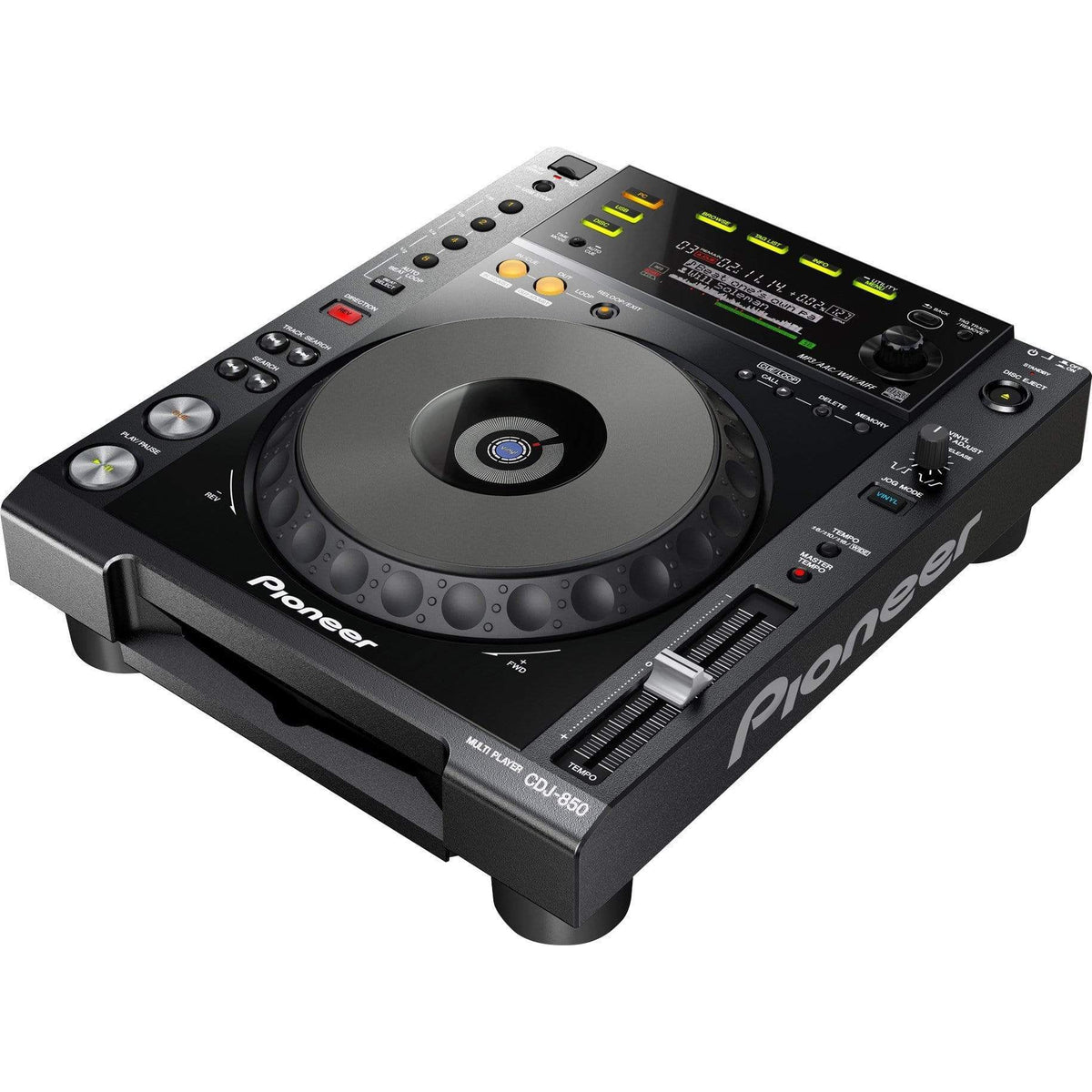 Pioneer DJ CDJ-850 Digital Deck w/ Full Scratch Jog Wheel & rekordbox Support