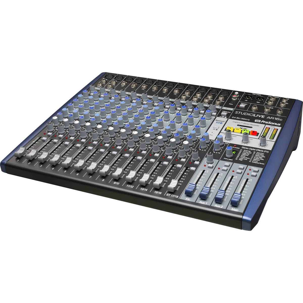 PreSonus StudioLive AR16c 16 channel USB-C™ Compatible Audio Interface / Analog Mixer / Stereo SD Recorder