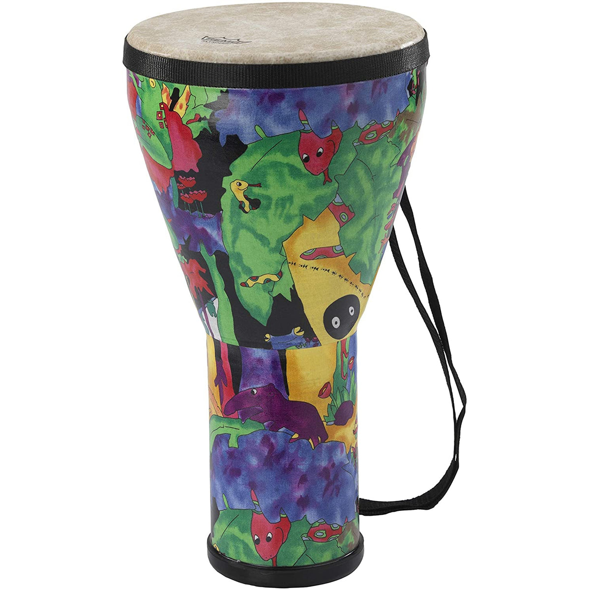 Remo KD-0608-01 KIDS PERCUSSION Djembe 8 Inch Rain Forest