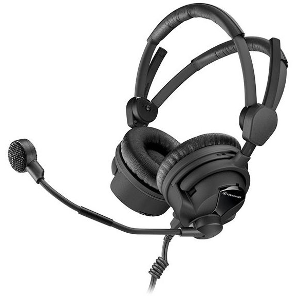 Sennheiser Professional Headsets Sennheiser HMD 26-II-600 Broadcast Headset with 600 Ohm, Dynamic Microphone (Cable Sold Separately)