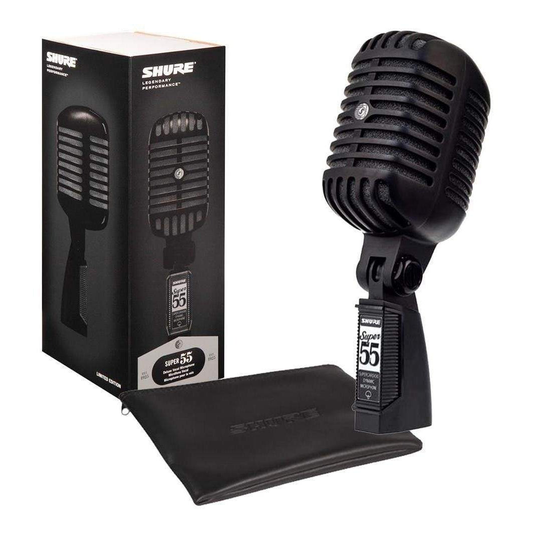 Shure Super 55 Deluxe Dynamic Microphone - Black