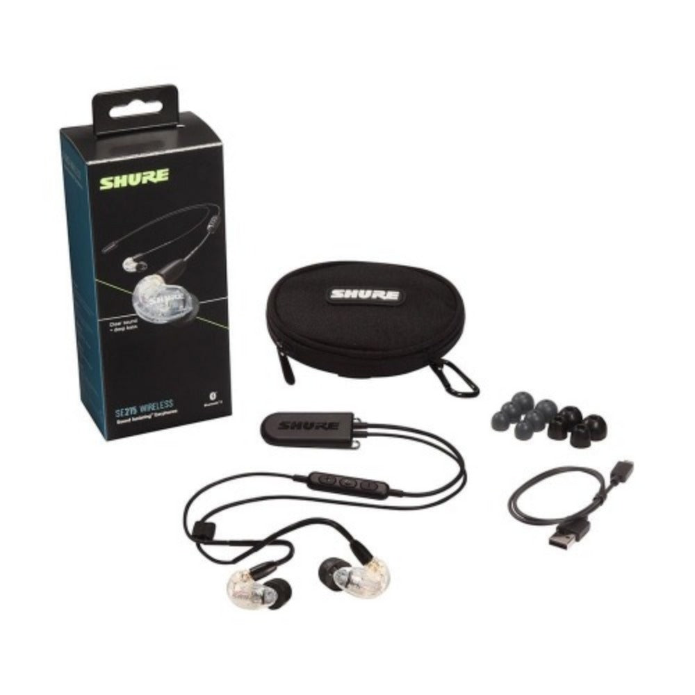 Shure SE215+BT2-EFS Sound Isolating Earphones with RMCE-BT2 Bluetooth 5.0, Wireless Remote + Mic for Apple & Android-Earphone-MusicMajlis