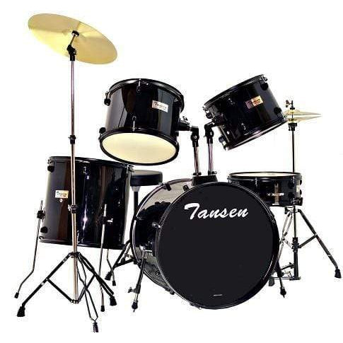 Tansen Percussions Tansen JBP0803 5 piece Drum sets -Black