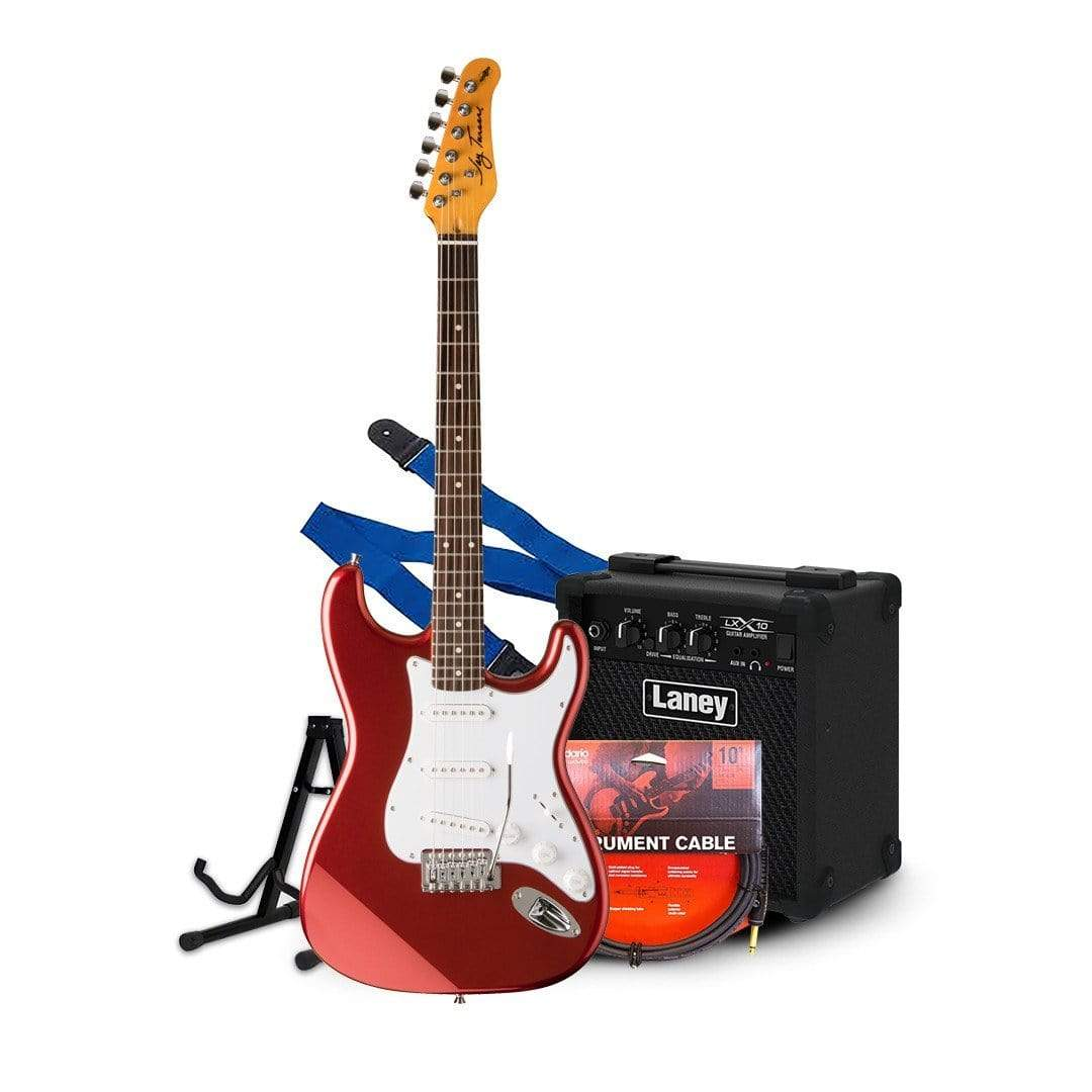 vendor-unknown Starter Pack Guitars RED Electric 3/4 (Small) Guitar Starter Pack Available in 2 different colors