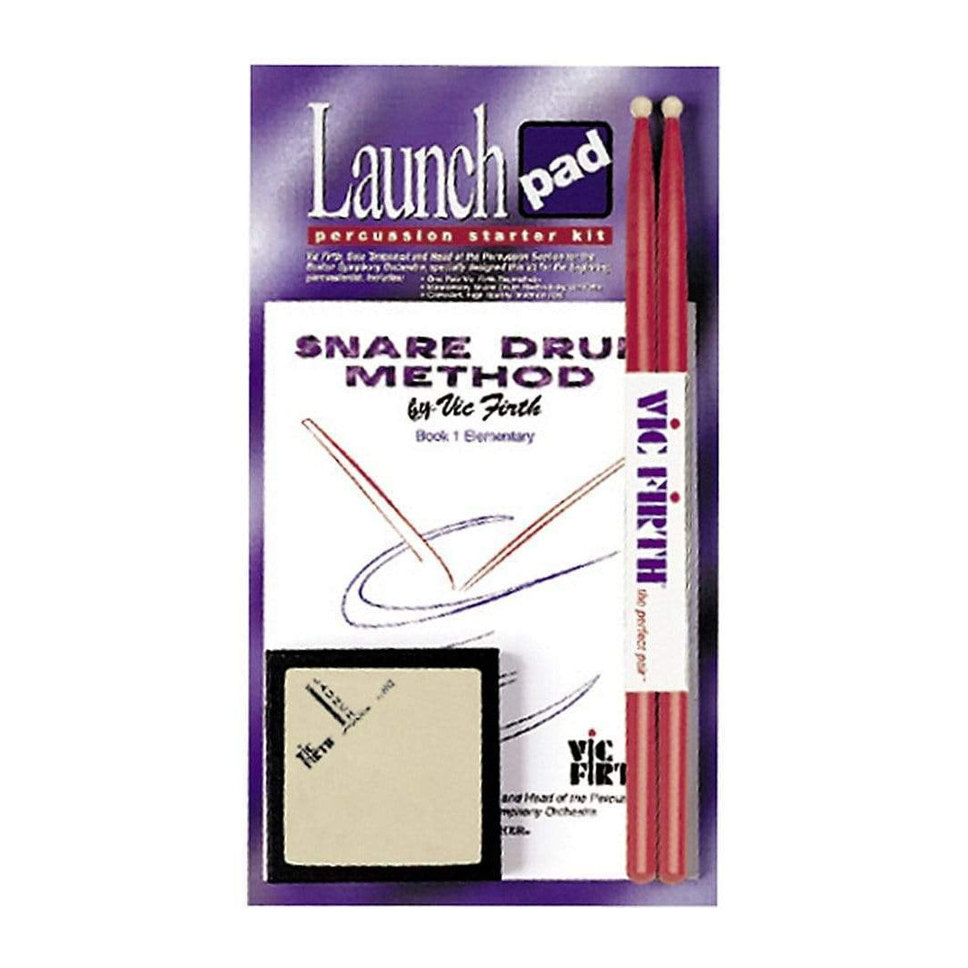 Vic Firth - LPAD1 Launch Pad Kit Includes Square Practice Pad SD1JR Stick & Method Book