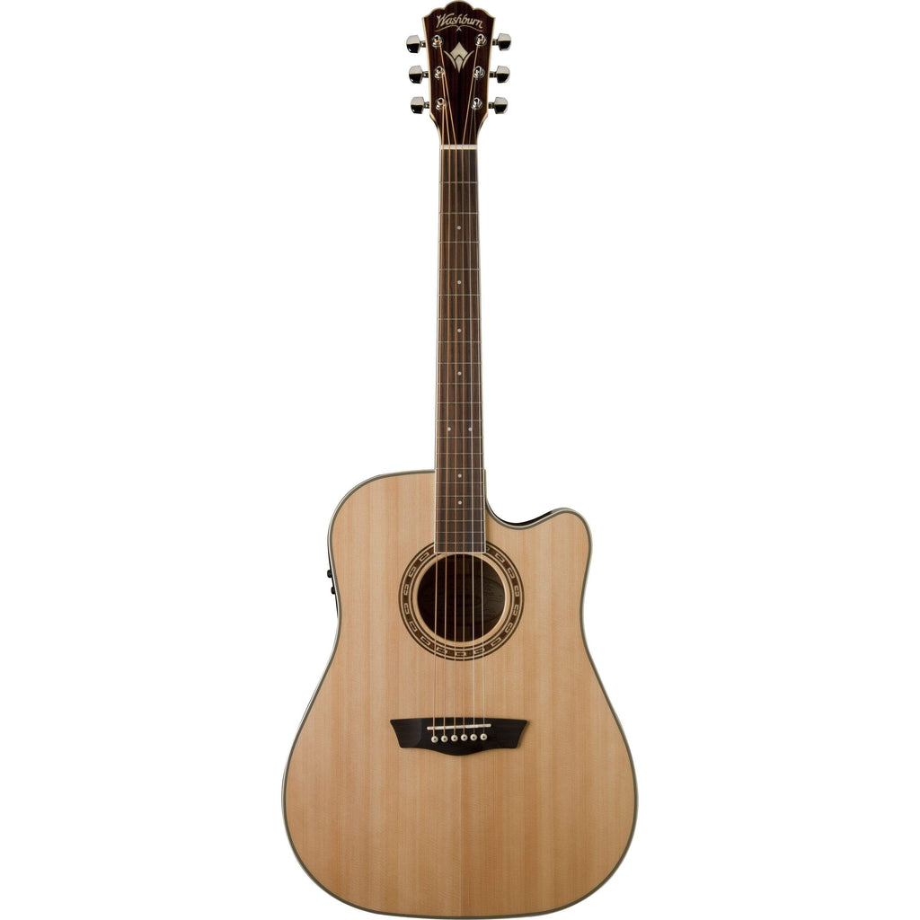 Washburn Guitars Semi-Acoustic Guitar Washburn WD10SCE Dreadnought Cutaway Acoustic guitar