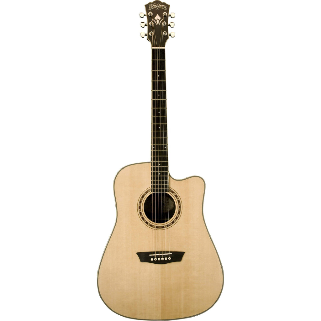 Washburn Guitars Semi-Acoustic Guitar Washburn WD20SCE Acoustic Guitar